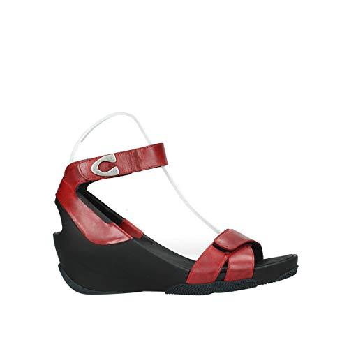 Wolky Comfort Sandalen Era - 30500 rotes Leder - 42