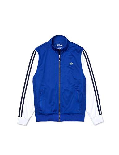 Lacoste Herren SH2098 Sweatjacke, Langarm Logo Krokodil sportlich Freizeit Sweater Sweatshirt Sweatshirt-Jacke Pullover,Cosmic/White (EMJ),3XL (8)