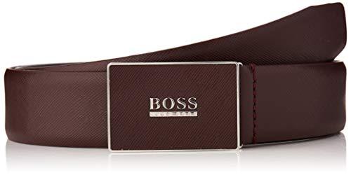 BOSS Icon-s_sz35 Cinturón, Rojo (Dark Red 605), 95 (Talla del fabricante: 80) para Hombre