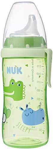 NUK 10255418 Active Cup - Vaso con boquilla de silicona (300 ml, antigoteo, a partir de 12 meses, sin BPA, 1 unidad), diseño de dinosaurios, color verde