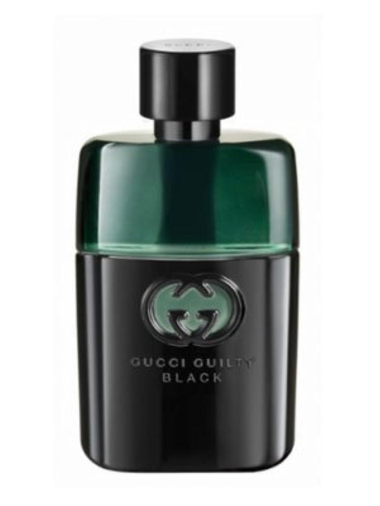 プラスチートどっちでもGucci Guilty Black Pour Homme (グッチ ギルティー ブラック プアー オム) 3.0 oz (90ml) EDT Spray (テスター/箱なし?キャップなし) for Men