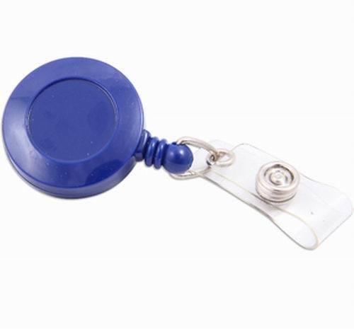 Baumgartens Blue Card Id Reel Badge Holder 100 Pack