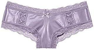 Victoria's Secret(ヴィクトリアシークレット) High Shine Crisscross Cheeky Panty チーキー ショーツ グレープ サイズ XS [並行輸入品]