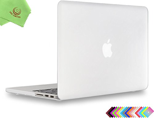 UESWILL Matte Hard Shell Case Cover Compatible with MacBook Pro (Retina, 13 inch, Early 2015/2014/2013/Late 2012), Model A1502/A1425, No CD-ROM, No USB-C, Clear
