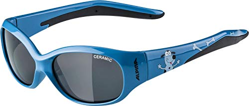 ALPINA FLEXXY KIDS Sportbrille, Kinder, blue dog, one size