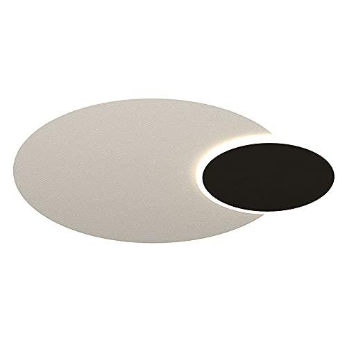 HUJUNM Lámpara de dormitorio de la iluminación de tres colores Lámpara de dormitorio nórdica Costura creativa Lámpara de techo 1.9in LED ultra delgada Luz de techo de techo de tres colores Luz de tech