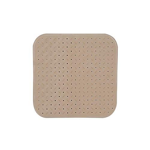 MSV Premium Duschmatte Badematte Badewannenmatte Badewanneneinlage antibakteriell rutschfest mit Saugnäpfen - Beige - duftet nach Rosen - ca. 54 x 54 cm - waschbar bei 60° Grad
