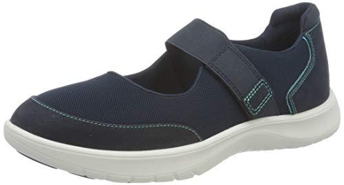 Clarks Adella West, Zapatillas Mujer, Tejido Azul Marino, 37.5 EU