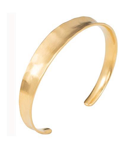 Pernille Corydon Damen Armreif Saga Bracelet gehämmerte Oberfläche - Matt 925 Silber Vergoldet - B411g