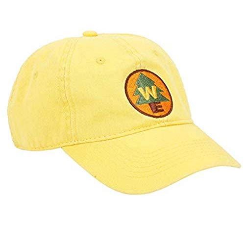 Concept One Disney's Pixar Up Wilderness Explorer Cotton Adjustable Baseball Hat with Curved Brim, Yellow, One Size