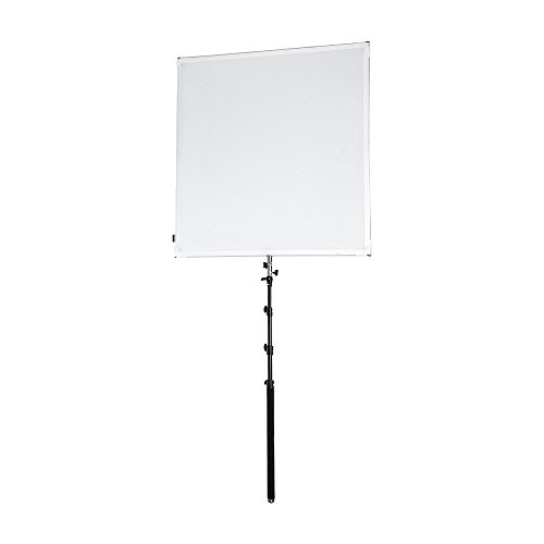 Pro Studio Solutions 122cm x 122cm (4ft x 4ft) Sun Scrim - Collapsible Frame Diffusion & Silver/White Reflector Kit with Boom Handle and Carry Bag