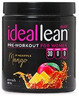 IdealLean, Best Pre Workout for Women - Energy Boost, Increase Training Intensity, Mental Focus, Results, Beta-Alanine, Lo...