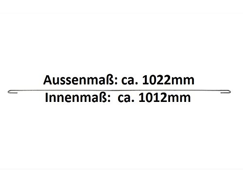 Zaundirekt 10x Distanzhalter L=1022mm Spannhaken Abstandshalter Haken Gabione Steinkorb