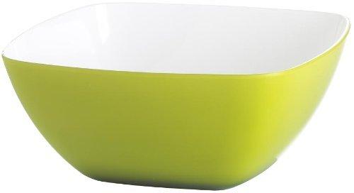 Emsa 506693 Eckige Schale für Salat, Kunststoff, 4.6 Liter, 26.5 x 26.5 x 12.5 cm, Hellgrün, Vienna