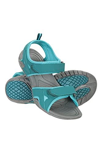 Mountain Warehouse Sandalias Andros Mujeres - zapatos de verano con forro de tejido, zapatos de mujer con cierre de Gancho y bucle, para playa, plantilla de phylon Verde agua Talla Zapatos Mujer 40 EU