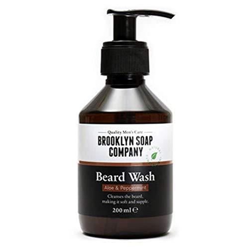 Shampoing à barbe, savon à barbe Beard Wash 200 ml - nettoyage et entretien barbe - cosmétiques naturels de la BROOKLYN SOAP COMPANY - l'entretien barbe naturel pour l'homme moderne et idée cadeau