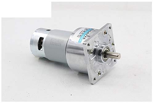 NO LOGO WJN-Motor, 1pc 60GA775 12V / 24V DC Reductor de Moter 775 de Alta Potencia y par Motor Grande de Velocidad de Motor 35W 5/10/15/30/50/100/200/300/400 RPM