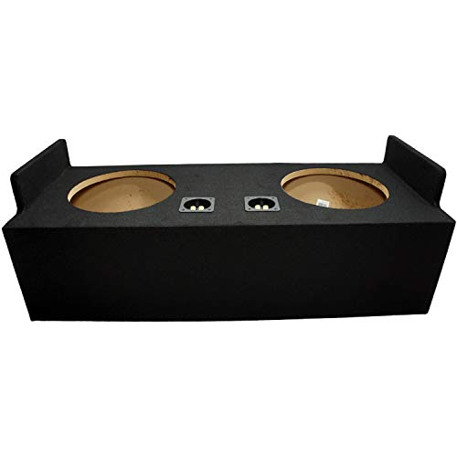"""Compatible with Chevy S10 or GMC Sonoma Extended Cab Truck 1982-2004 Dual 12"""" Subwoofer Sub Box Speaker Enclosure"""