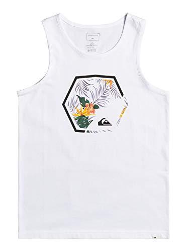 Quiksilver Fading out, Camiseta Niños, Opacity, White, L/14
