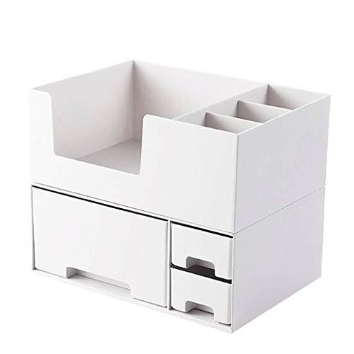 pinghub Oficina Organizador Escritorio Organizador Escritorio NiñOs Hacer Organizador Apilable Cajas de Almacenamiento Cajas de Almacenamiento con Tapas White