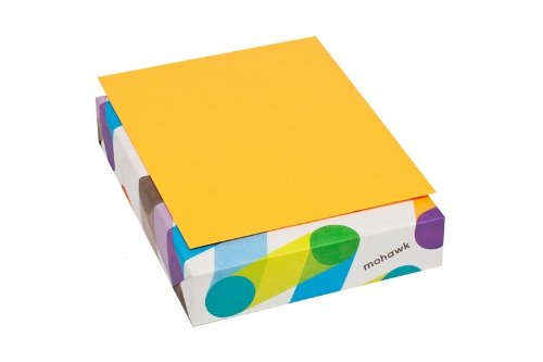 Mohawk BriteHue Ultra 20 lb., 8.5 x 11 Inch, Smooth Text Paper 500 Sheets/Ream - Sold as 1 Ream, Orange (101329)