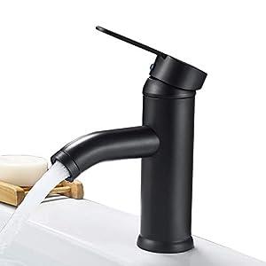 Contemporánea simple cromado sola manija baño grifo del fregadero,Aceite frotado bronce
