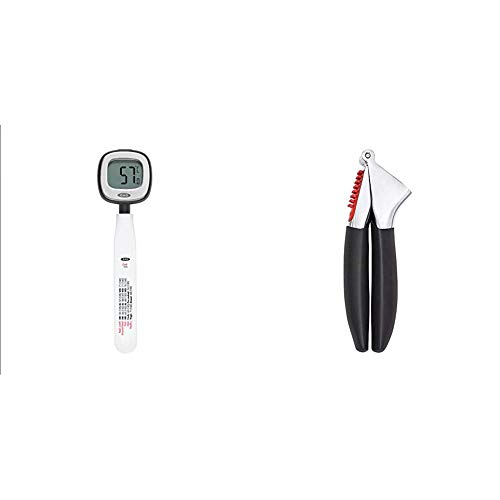 OXO Good Grips Chef's Precision Digital Instant Read Thermometer & Good Grips Garlic Press