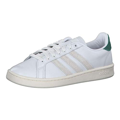 adidas Grand Court, Zapatillas de Tenis, FTWR White/Orbit Grey/Collegiate Green, 37 1/3...