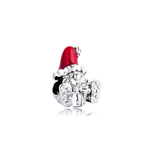 Diy Fits Pandora Bracelet Silver 925 Original Seated Santa Claus And Present Charm Beads Women Jewelry Making Charmsy