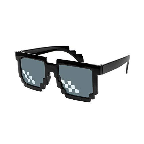 CuiGuoPing Mosaic Motocycle - Gafas de sol pixeladas de 3/6 bits MLG