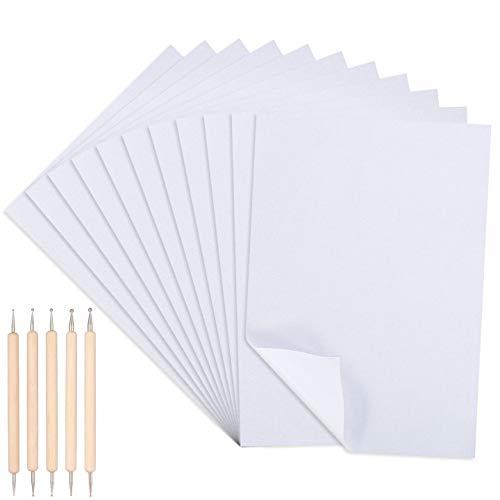 Xinstroe 150PCS Kohlepapier Weißes Graphitpapier Weißes Carbon Transfer Transparentes Papier mit 5PCS Markierungsstift Perfekt für die Rückverfolgung (A4)