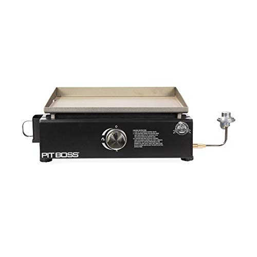 Pit Boss 1 Burner Portable Gas Griddle, Lightweight and portable Cast Iron Griddle