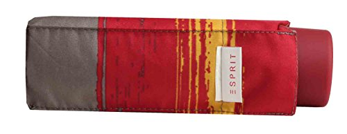 ESPRIT Petito Flashstripe red 50613 Rot gestreift Regenschirm Taschenschirm Schirm