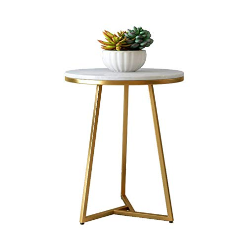 Tables Marble Side Modern Nightstand Round End Accent Coffee For Living Room Bedroom Balcony Office(Size:60x75cm)