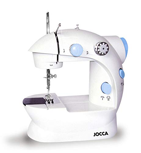 Jocca6648 Set con Macchina da Cucire e Kit da Cucito, Bianco/Azul