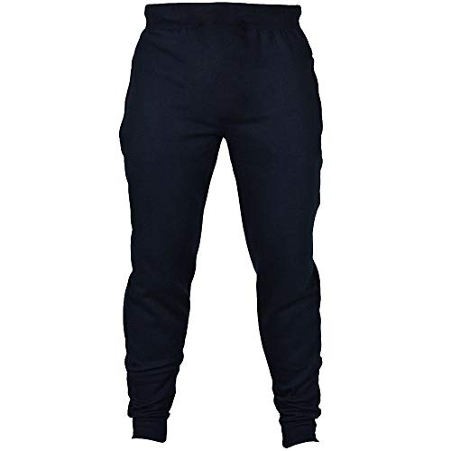 Mens Trousers Classic-Fit Fashion Autumn Joggers Solid Casual Drawstring Sweatpants Pant Navy