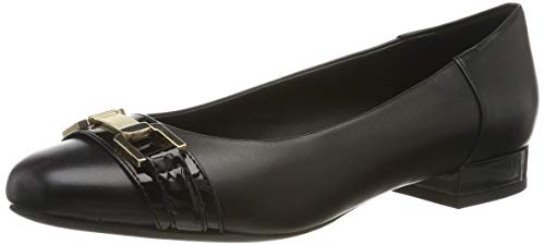 Geox Damen D WISTREY A Geschlossene Ballerinas, Schwarz (Black C9999), 38 EU