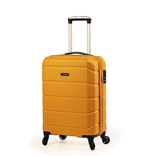 Maletas de Cabina 55x40x20 Tamaño Máximo Ryanair/Maleta pequeña Viaje rigida en ABS Trolley Equipaje de Mano Ligera con 4 Ruedas giratorias Sulema (Mostaza)