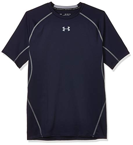 Under Armour UA Heatgear Short Sleeve Camiseta, Hombre, NavyAzul (Midnight Navy/Steel (410), M