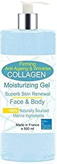Gel de Colágeno Marino Gel Biodisponible 500 ml - Tersura y Firmeza de la piel Cara y Cuerpo Gel Hidratante Reafirmante- 5...
