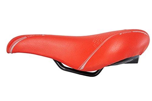 Selle Bassano Volare Fahrradsattel Herren Damen Citybike City Sattel (rot)