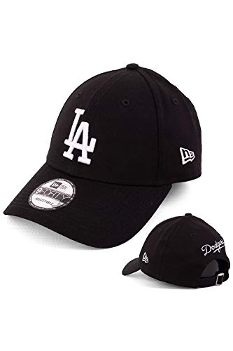 New Era Baseball Cap Basecap Herren Test123 Edition mit Extra Team Stickerei auf Rückseite Kappe Schirmmütze Mütze 9 Forty Snapback LA Dodgers Black