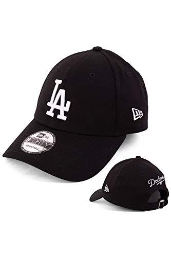 New Era - Berretto da baseball da uomo, edizione limitata con ricamo della squadra sul retro, fantasie e squadre a scelta, modello 9Forty LA Dodgers Black Taglia unica