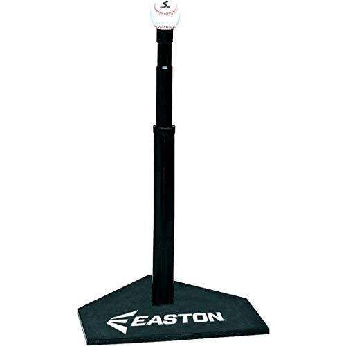 EASTON DELUXE Baseball Softball Batting Tee, Durable All Rubber Batting Tee, Easy Height Adjustment For Perfect Practice, Heavy Duty Solid Rubber Base Provides Ultimate Stability
