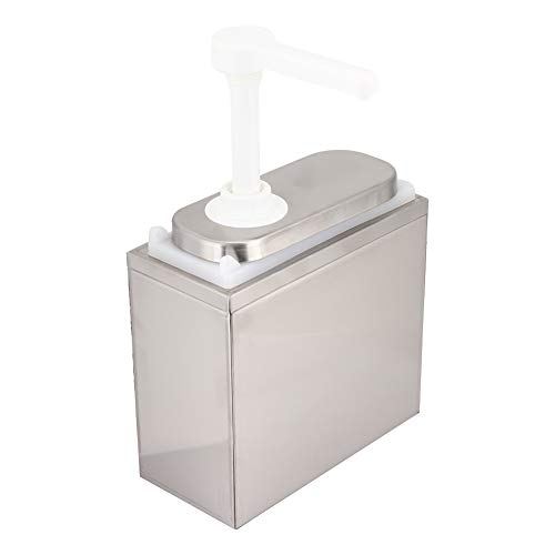 Dispensador de salsa de 1 pieza, bomba de salsa de acero inoxidable, botellas exprimibles para salsa con base de tapa para barbacoa de cocina(1L)