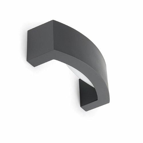 Faro Barcelona 74401 - ANCORA Aplique, 20W, aluminio inyectado y difusor policarbonato opal, color gris