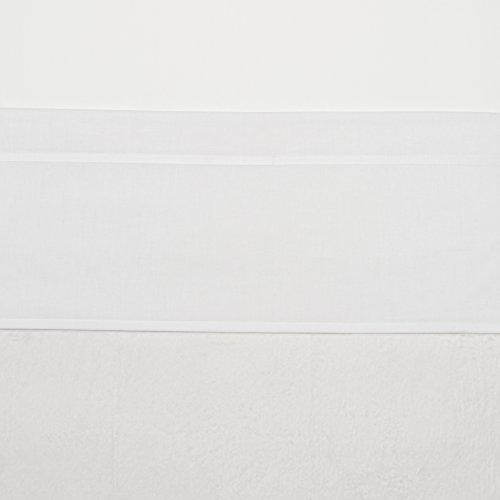 Meyco 414000 Ledikantlaken bies, 100x150 cm, Wit