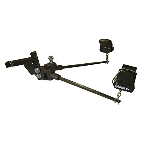 Blue Ox BXW1500 SWAYPRO Weight Distributing Hitch 1500lb Tongue Weight for Standard Coupler with Clamp-On Latches