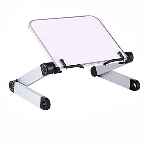 Atril para Libros -Altura y ángulo Ajustable Soporte para Libro, Atril de Lectura con Brazos de Aluminio y Clips de Carpeta, Soporte Libros para Big Heavy HardCover, Receta y portátil iPad