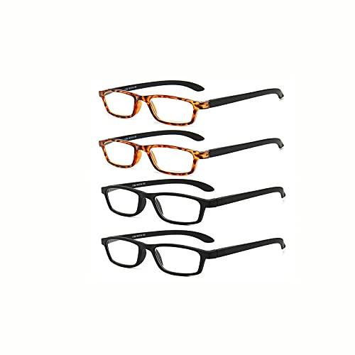 ShRan Gafas de Lectura de Moda Anti-luz Azul para Hombres y Mujeres, Gafas de Lectura de Alta definición de Mediana Edad y Ancianos